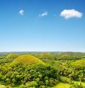 Nature chocolate hills on bohol island philippines Stock Images