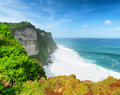 Nature coast at uluwatu temple bali indonesia Royalty Free Stock Photo