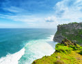 Nature coast at uluwatu temple bali indonesia Royalty Free Stock Photos