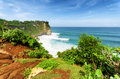 Nature coast at uluwatu temple bali indonesia Stock Photography