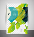 Nature corporate flyer print template professional with place for your photo Royalty Free Stock Photography