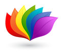 Nature design element in rainbow colors Stock Photo