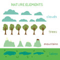 Nature Design elements. Build your own Landscape Royalty Free Stock Photo