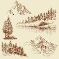 Nature design elements Royalty Free Stock Photo