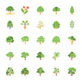 Nature and Ecology Flat Colored Icons 5 Royalty Free Stock Photo