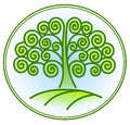 Nature and environment icon with tree vector Stock Photos