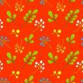 Nature flower illustration seamless pattern background vector