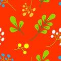 Nature flower wreath illustration seamless pattern background vector