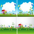 Nature Flyer Or Cover Vector D...