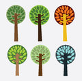 Nature forest design forst over gray background vector illustration Stock Photography