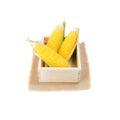 Nature fresh corn isolated on white background Royalty Free Stock Photo