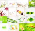 Nature green abstract backgrounds mega collection Royalty Free Stock Photo
