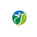 Nature health sport logo vector