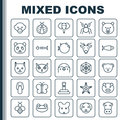 Nature Icons Set. Collection Of Cobweb, Bear, Kitten And Other Elements. Also Includes Symbols Such As Reptile, Kitten