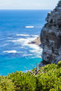 Nature landscape next to cape town city oceanscape with high cliff Royalty Free Stock Image