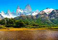 Nature Landscape In Patagonia,...