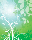 Nature leaf background a green flower and illustration Stock Photo