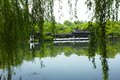 Nature park scenery hangzhou in spring xihu lake china plants and water Stock Photography