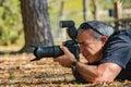 Nature Photographer Male Mature Royalty Free Stock Photo