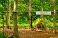 Nature play area for children to teach them about and the woods Royalty Free Stock Photography