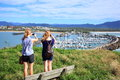 Nature reserve, marina and women, Coffs Harbour