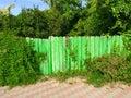 Nature retaking manmade fence Royalty Free Stock Photo