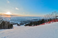 The nature of sakhalin island russia ski resort mountain air Stock Image