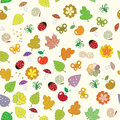 Nature seamless pattern with many elements eps on Stock Photos