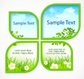 Nature spring banners with section for text vector illustration Stock Photography