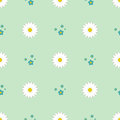 Nature spring flower wreath illustration colorful seamless pattern background vector illustration.