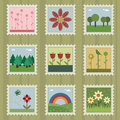 Nature stamps Stock Image