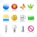 Nature symbols icons Royalty Free Stock Photo