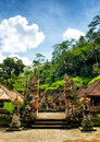 Nature traditional balinese architecture the gunung kawi Royalty Free Stock Photo