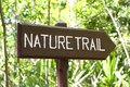 Nature Trail panel Royalty Free Stock Photo