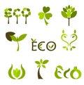 Nature vector symbols or logos