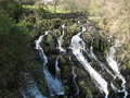 Nature waterfall Swallow Falls in Wales Royalty Free Stock Photo