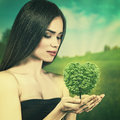 Nature in your hands. Royalty Free Stock Photo