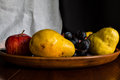 Naturmort plate of the fruits canvas print is a great decor for kitchen Royalty Free Stock Photos