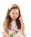 Naughty little girl Royalty Free Stock Photography