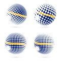 Nauru halftone flag set patriotic vector design.