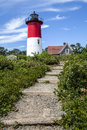 Nauset light lighthouse the in cape cod massachusetts Stock Photography