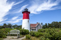 Nauset light lighthouse the in cape cod massachusetts Stock Images