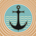 Nautical anchor symbol Royalty Free Stock Photo