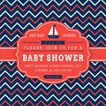 Nautical baby shower card. Royalty Free Stock Photo