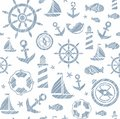 Nautical background, seamless, white and gray vector.