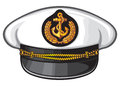 Nautical captains hat vector illustration captains hat cap captain white uniform Royalty Free Stock Photos