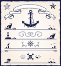 Nautical design elements Stock Photography