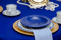 Nautical dinner place setting Stock Photography