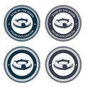 Nautical emblem with life ring Royalty Free Stock Images