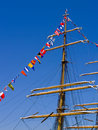 Nautical Flags and Mast Royalty Free Stock Photo